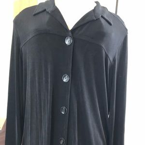 Chico's Travelers black  button down size 3